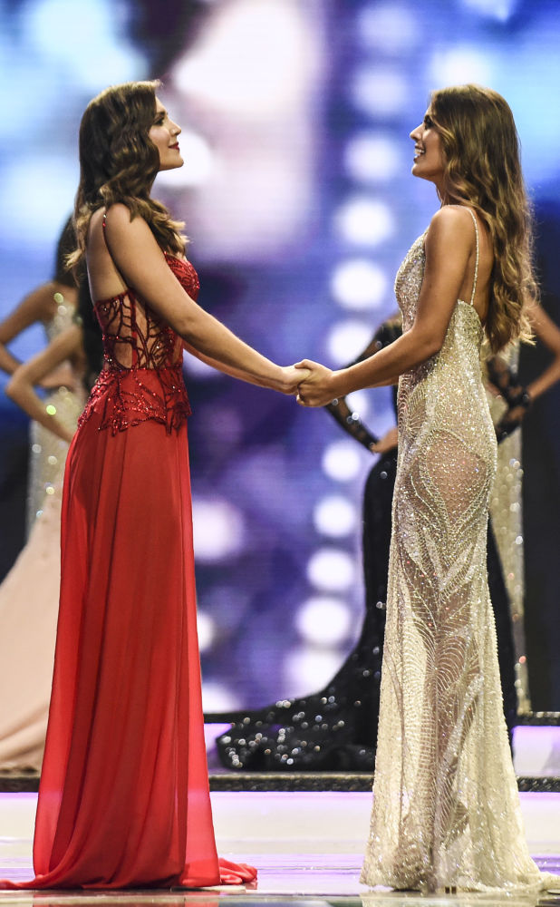 Finalistas do Miss Colômbia 2018 esperam por resultado, em Medellín, 30 de setembro de 2018