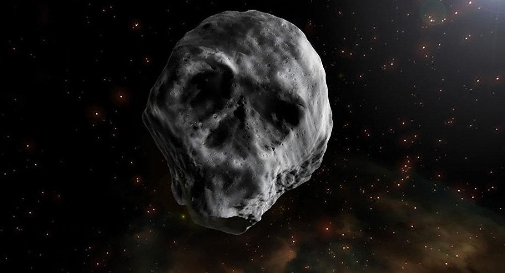 Asteróide 2015 TB145 de forma parecida com o crânio humano