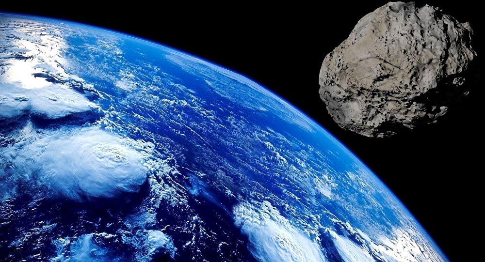 Asteroide que está se aproximando da Terra (imagem referencial)