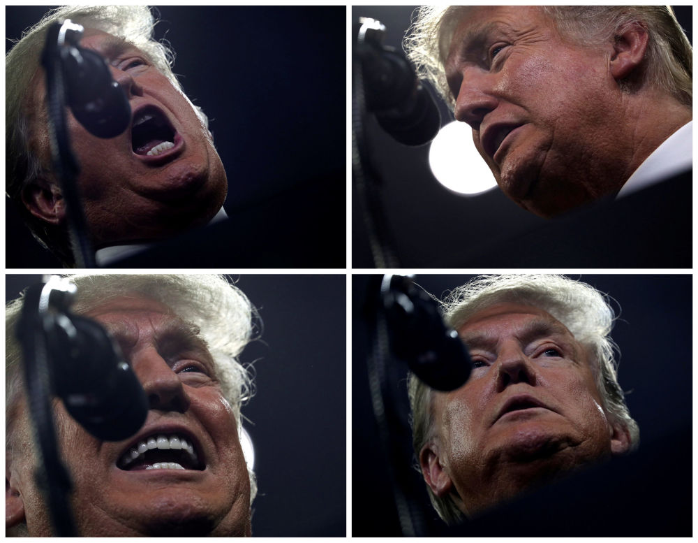 Presidente dos EUA, Donald Trump, apela a seus apoiadores durante um comício em Tennessee, nos EUA