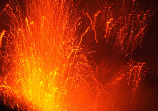 Erupção vulcânica (imagem referencial)