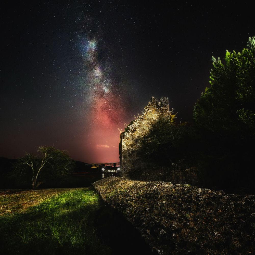 Via Láctea no céu noturno da Espanha