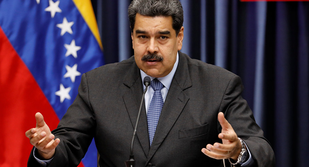 Presidente da Venezuela, Nicolás Maduro, durante conferência em Caracas, 18 de setembro de 2018