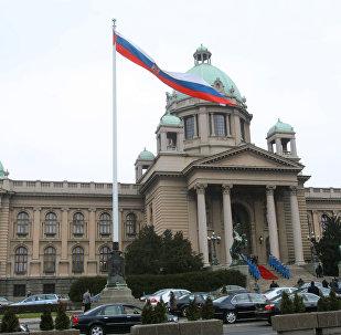 Parlamento sérvio em Belgrado
