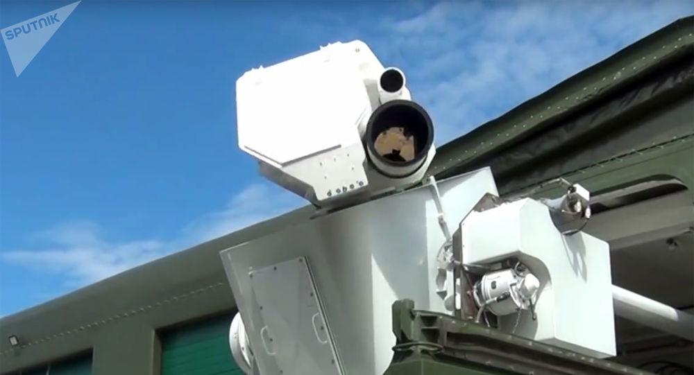 Testes do sistema de combate a laser russo Peresvet