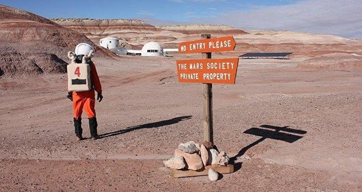 Simulação da vida no espaço no deserto de Utah, nos EUA
