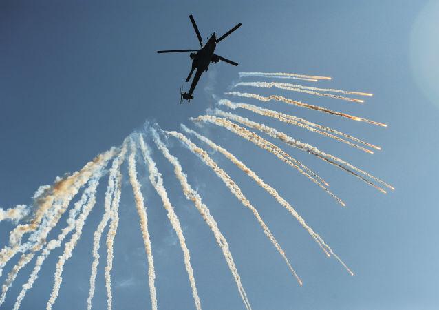 Helicóptero russo de ataque Mi-28N, batizado de Caçador Noturno