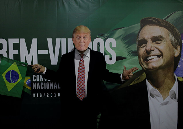 Apoiador de Jair Bolsonaro (PSL) com máscara de Donald Trump (foto de arquivo)