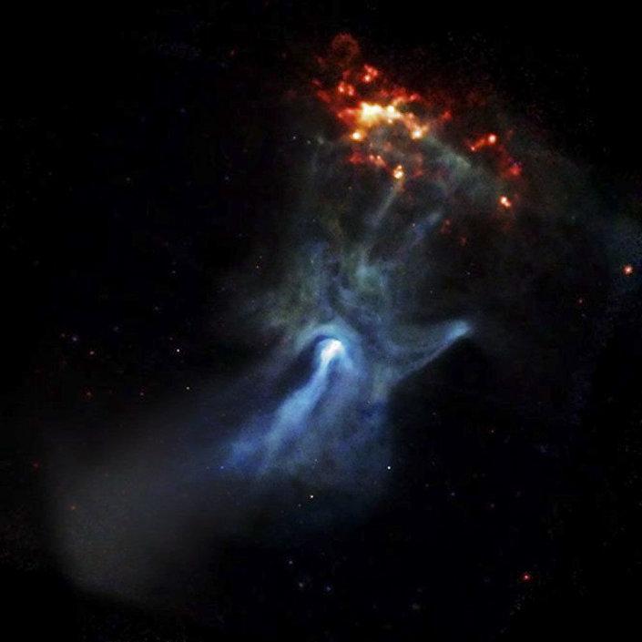 Nebulosa B1509-58 (Mão de Deus)