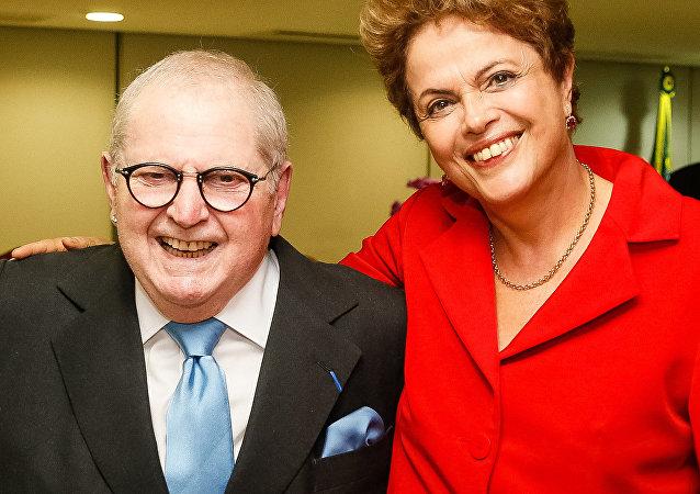 Presidenta Dilma Rousseff recebe Jô Soares no Palácio do Planalto