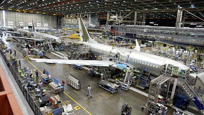 Montagem do avião Boeing 737 (foto de arquivo)