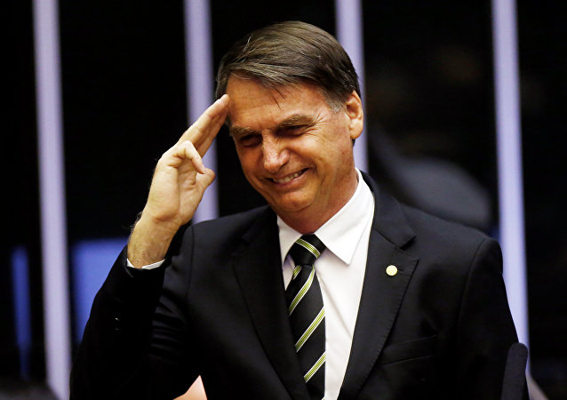 Jair Bolsonaro, presidente eleito do Brasil, durante uma sessão no Congresso Nacional, em Brasília, em 6 de novembro de 2018