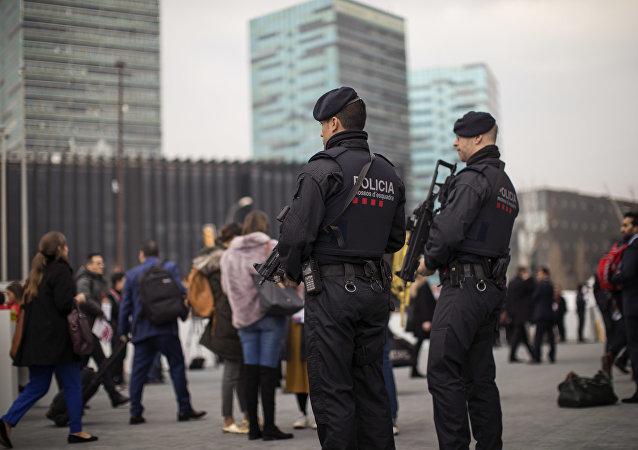 Polícia catalã em Barcelona, Espanha. (Arquivo)