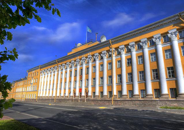 Academia Militar Espacial Mozhaisky, em São Petersburgo (foto de arquivo)