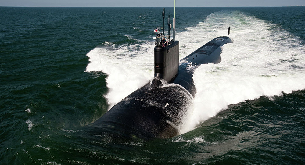 O submarino de ataque rápido da classe Virginia USS California