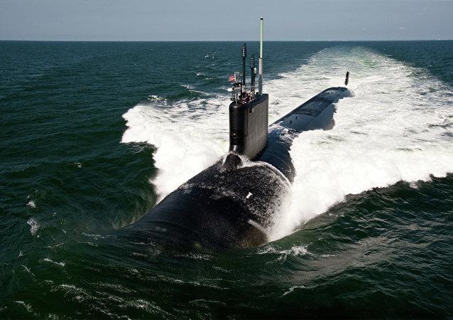 O submarino de ataque rápido da classe Virginia USS California