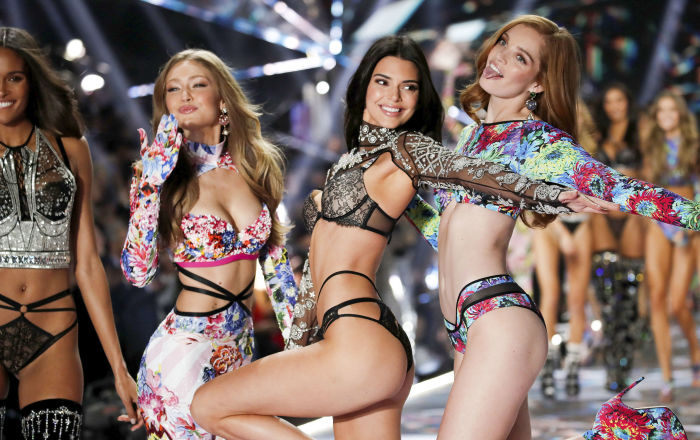 Anjinhas da Victoria's Secret durante o evento anual da marca, em 8 de novembro de 2018, em Nova York