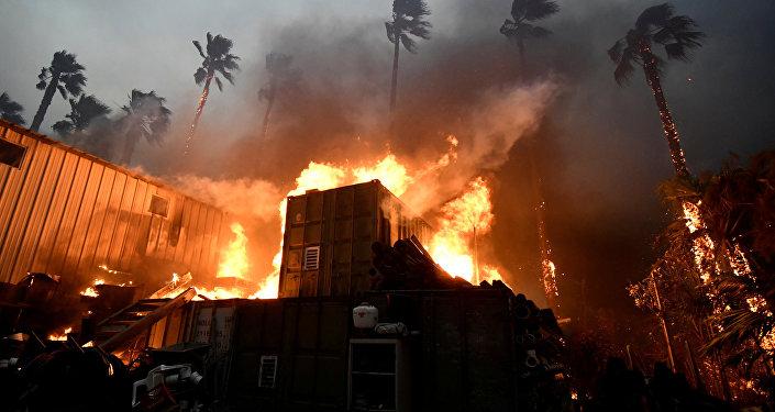 Incêndio na Califórnia.