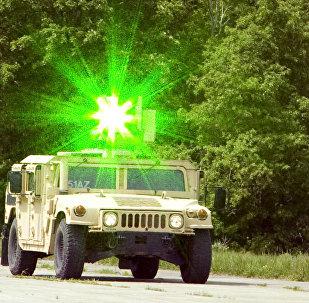 Laser instalado a um veículo militar (imagem ilustrativa)