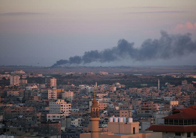 Ataque israelense com mísseis na Faixa de Gaza
