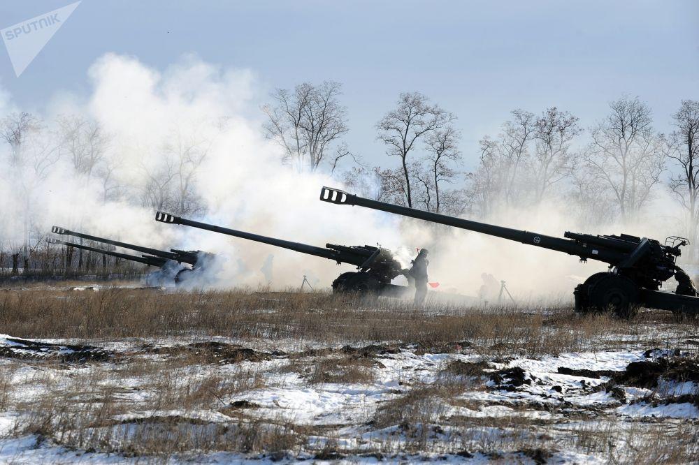Os exercícios decorreram em 15 de novembro de 2018, tendo sido associados com o Dia das Forças de Mísseis e Artilharia