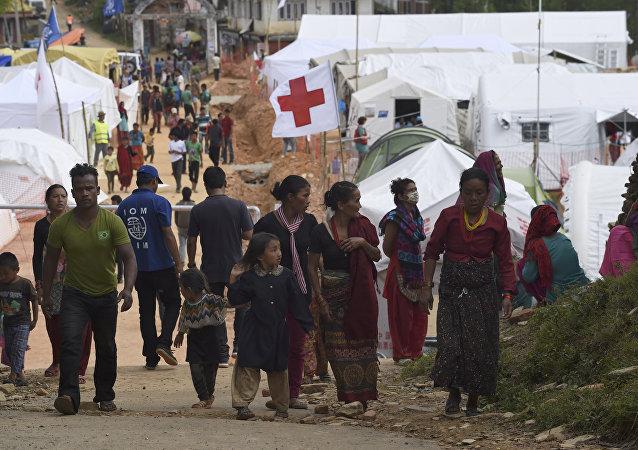 Cruz Vermelha no Nepal