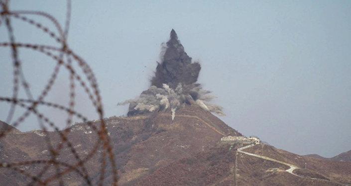 Explosão na zona desmilitarizada (imagem referencial)