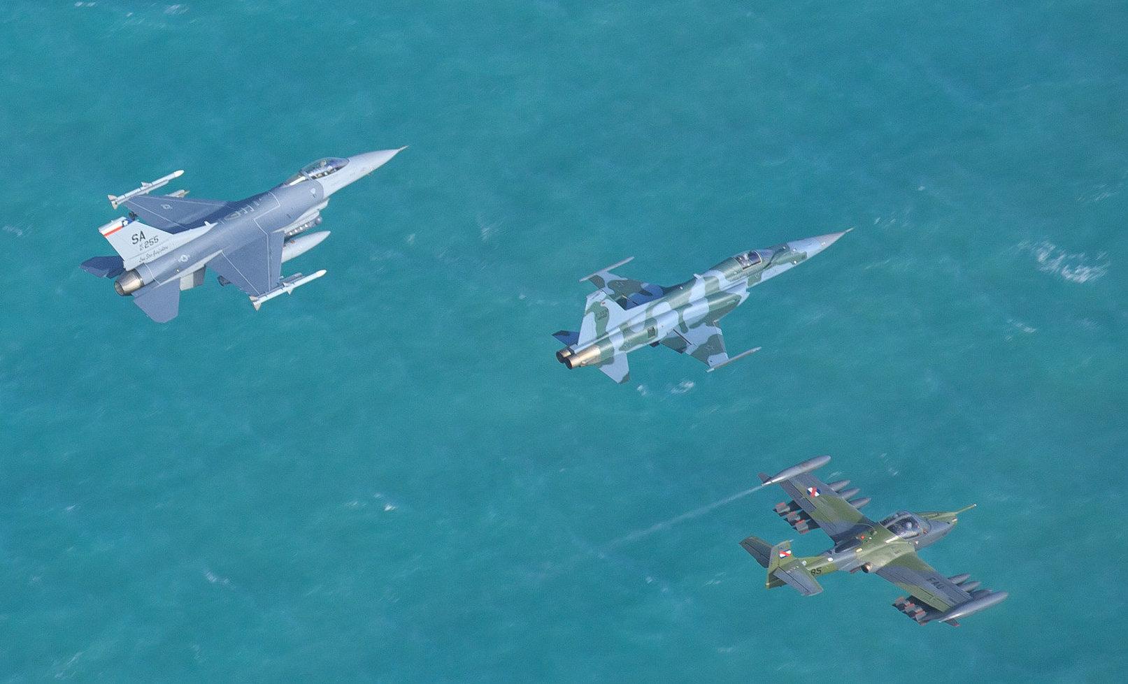 FAB treina guerra convencional e não convencional com 12 países em megaexercício aéreo