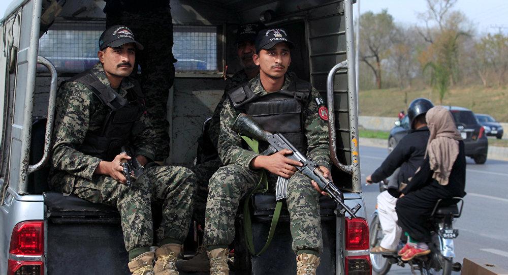 Rangers do Paquistão patrulham as ruas de Islamabad (foto de arquivo)