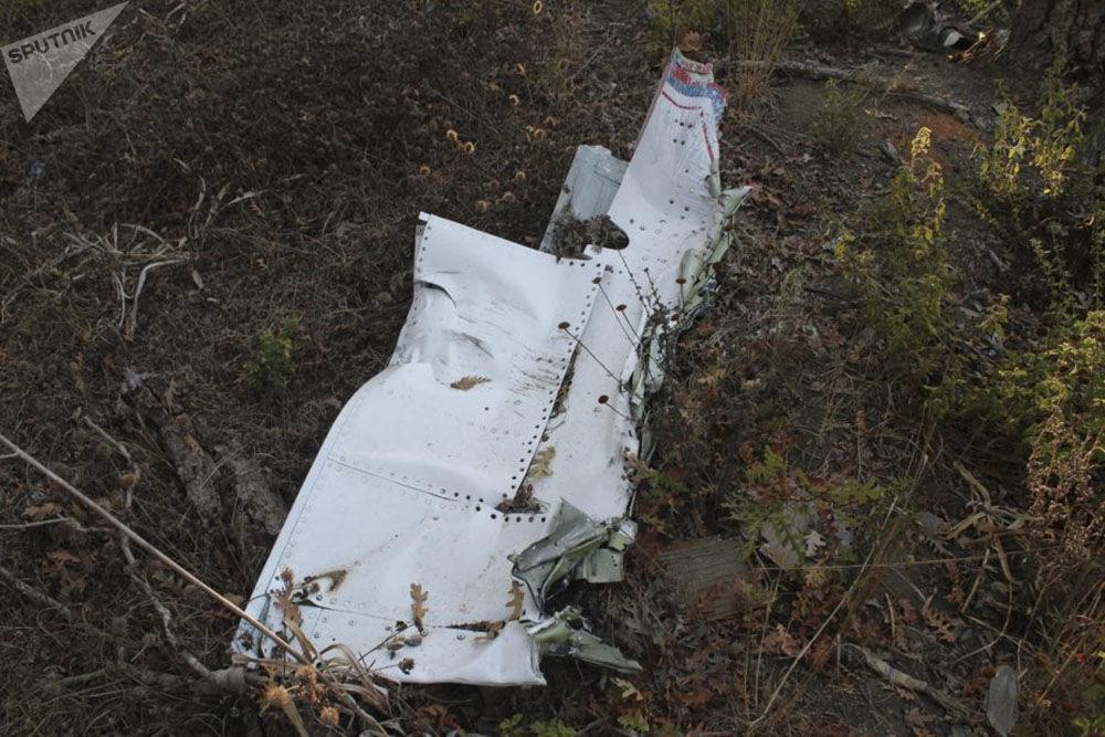 Lugar da queda do avião Su-24M e do helicóptero de resgate russos na Síria
