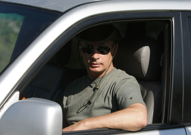 Vladimir Putin, então primeiro-ministro russo, passa férias na República de Tuva, em 3 de agosto de 2009