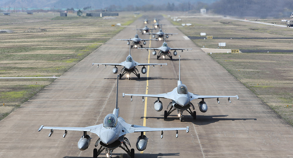 Caças sul-coreanos KF-16