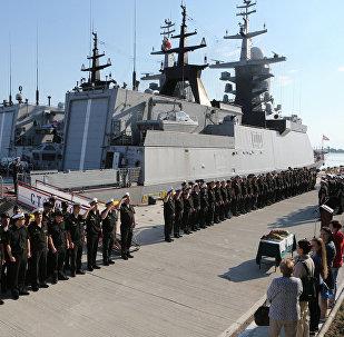 Сorvetas Stoiky e Boiky da Marinha da Rússia em uma base da Frota do Báltico (foto de arquivo)