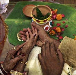 Cerimônia de casamento na Índia (imagem referencial)