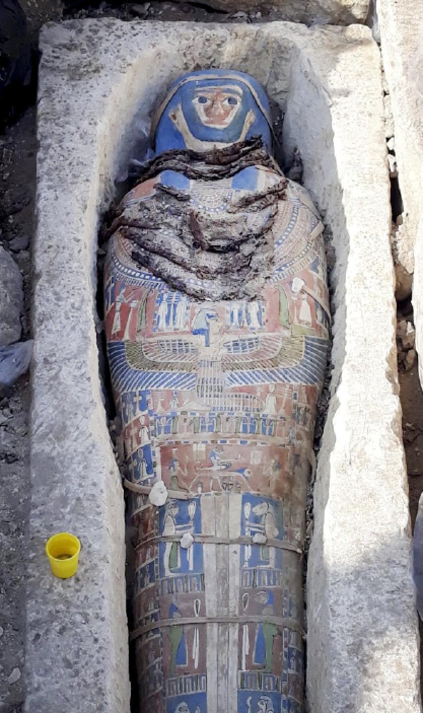 Múmia achada no Cairo