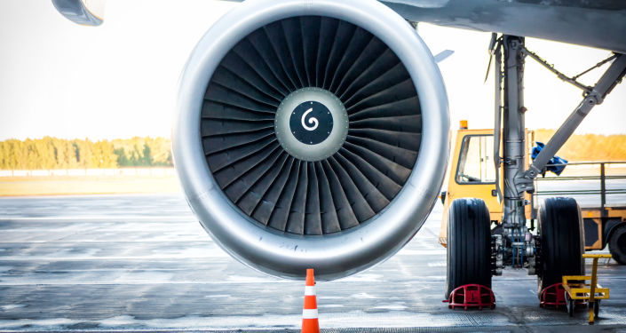 Turbina de avião (imagem referencial)