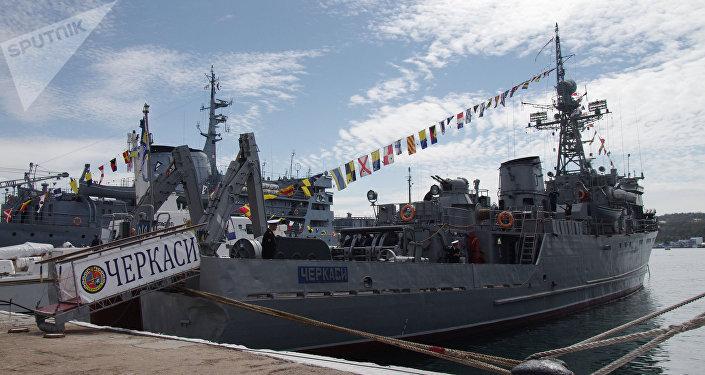 Navio ucraniano Chercasi no porto de Sevastopol (foto de arquivo)