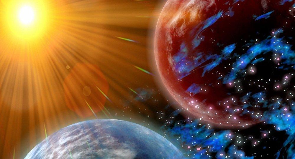 Sol afeta planetas ao seu redor (apresentação artística)