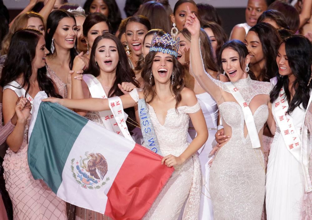 A candidata do México, Vanessa Ponce de Leon, de 26 anos, foi a vencedora do concurso de beleza Miss Mundo 2018