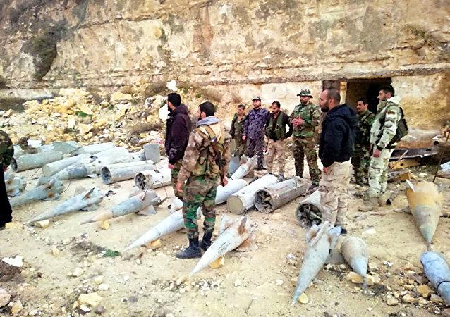 As Forças Armadas da Síria encontraram mais de 20 mísseis terra-ar