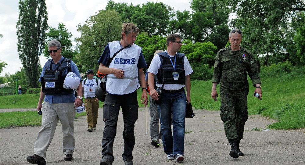 Observadores da OSCE em Donetsk