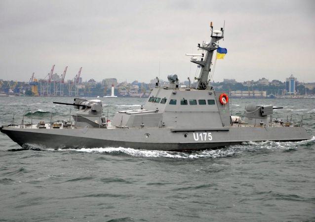 Lancha blindada de artilharia do projeto 58155 Gyurza-M da Marinha da Ucrânia