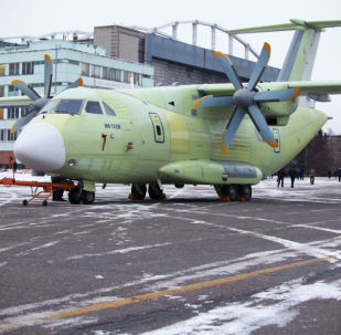 Avião russo de transporte militar Il-112V