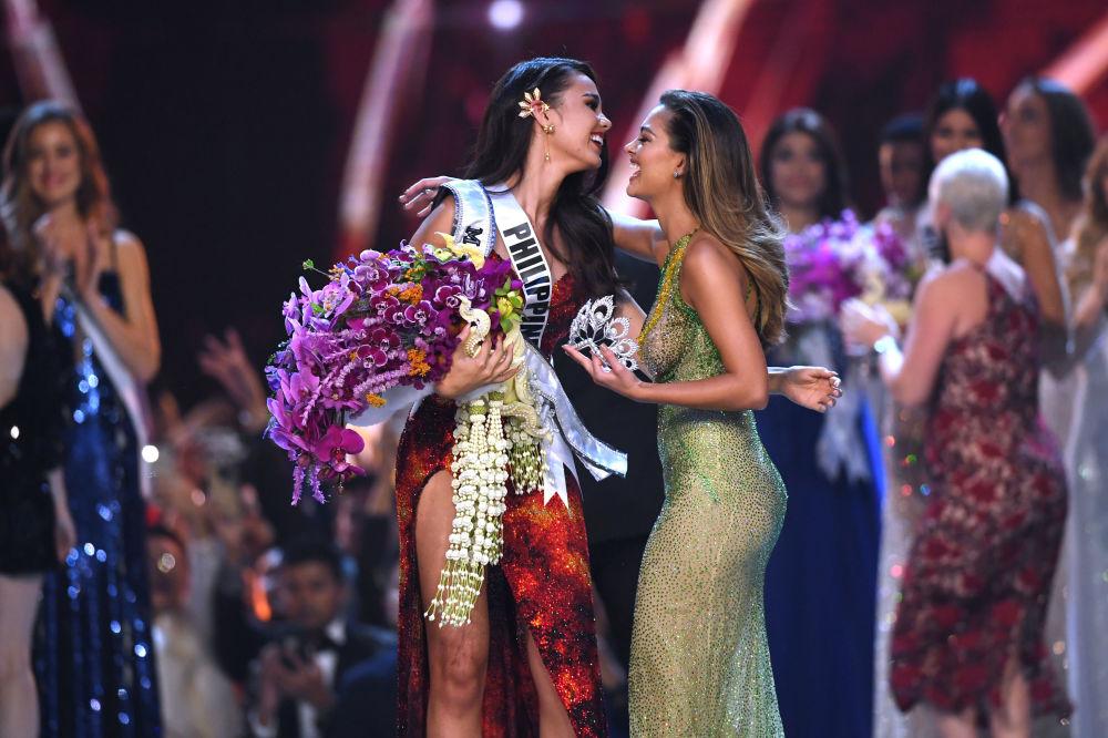 Miss Filipinas, Catriona Gray, durante o concurso Miss Universo 2018, Bangkok