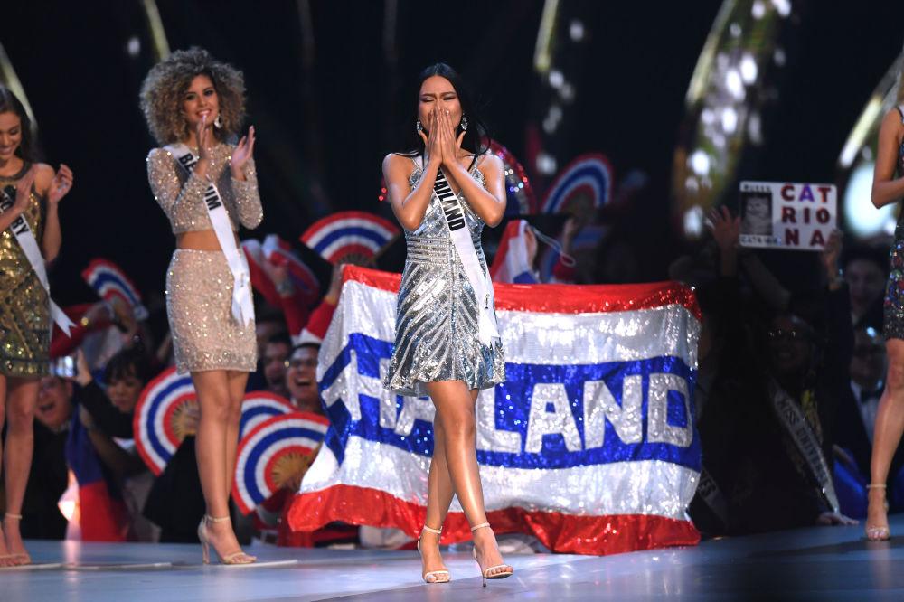 Miss Tailândia, Sophida Kanchanarin, na final do concurso Miss Universo 2018