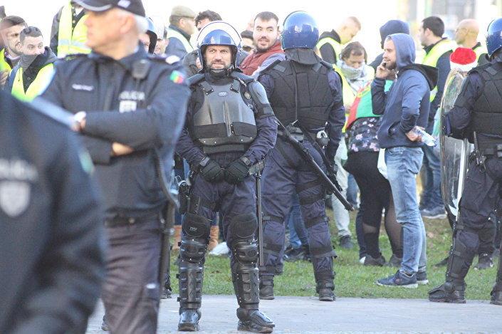 Polícia garante segurança durante protesto de 'coletes amarelos' lisboetas, 21 de dezembro de 2018