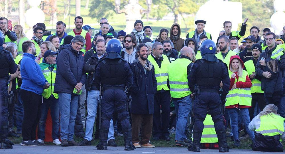'Coletes amarelos' protestam em Lisboa, 21 de dezembro de 2018