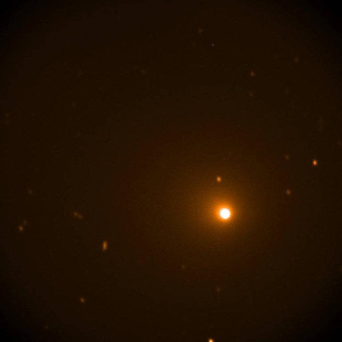 Telescópio SOFIA capturou a imagem do cometa 46P/Wirtanen, em 17 de dezembro de 2018