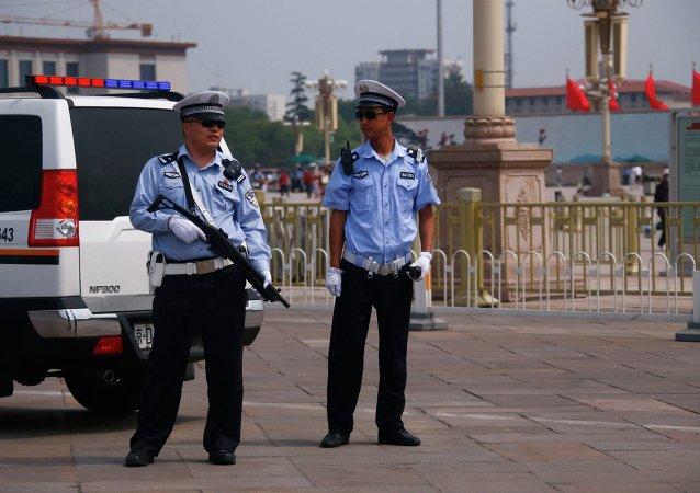 Policiais da China