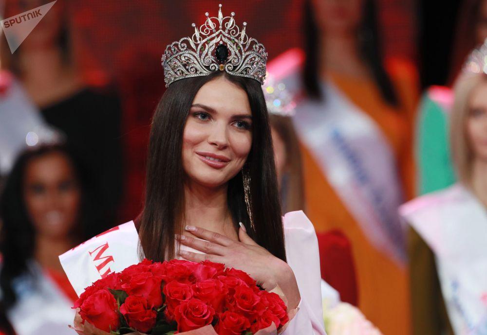 Alesya Semerenko, de 24 anos de idade, foi a ganhadora do concurso de beleza Miss Moscou 2018